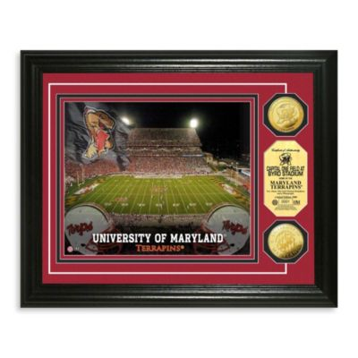 University of Maryland 13-Inch x 16-Inch Stadium Gold Coin Photo Mint Frame