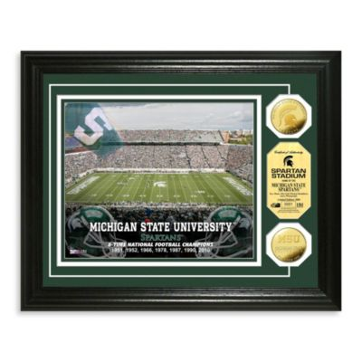 Michigan State University Collegiate Home Field Gold Coin Photo Mint
