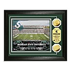 Michigan State University 13-Inch x 16-Inch Stadium Gold Coin Photo Mint Frame
