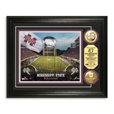 Mississippi State 13-Inch x 16-Inch Collegiate Stadium Gold Coin Photo Mint Frame