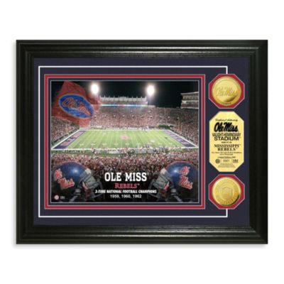 University of Mississippi 13-Inch x 16-Inch Stadium Gold Coin Photo Mint Frame