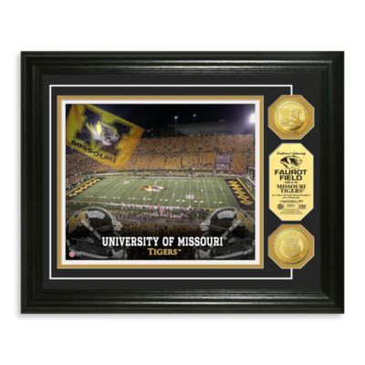 University of Missouri 13-Inch x 16-Inch Stadium Gold Coin Photo Mint Frame