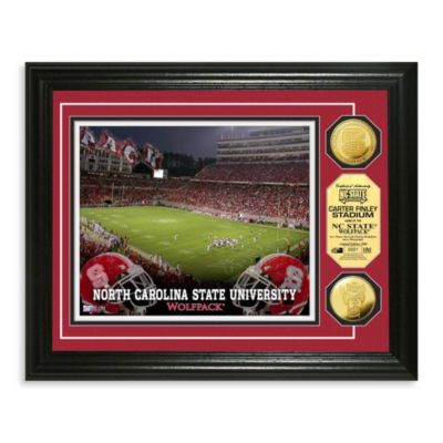 North Carolina State University 13-Inch x 16-Inch Stadium Gold Coin Photo Mint Frame