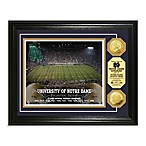 Notre Dame 13-Inch x 16-Inch Collegiate Stadium Gold Coin Photo Mint Frame