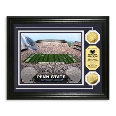 Penn State Collegiate Home Field Gold Coin Photo Mint Frame