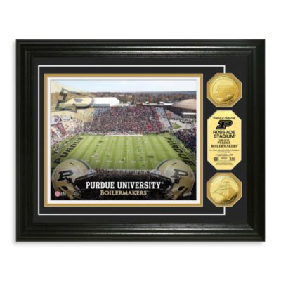 Purdue 13-Inch x 16-Inch Collegiate Stadium Gold Coin Photo Mint Frame