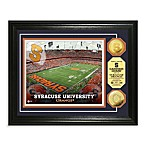 Syracuse University 13-Inch x 16-Inch Collegiate Stadium Gold Coin Photo Mint Frame