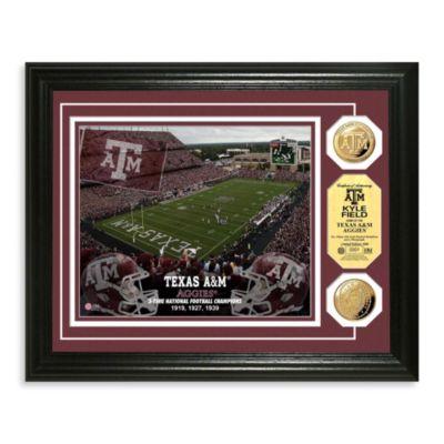 Texas A&M Collegiate Home Field Gold Coin Photo Mint Frame