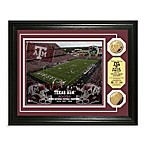 Texas A&M 13-Inch x 16-Inch Collegiate Stadium Gold Coin Photo Mint Frame