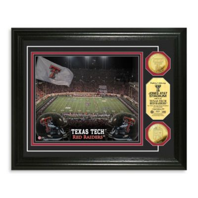 Texas Tech 13-Inch x 16-Inch Collegiate Stadium Gold Coin Photo Mint Frame