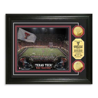 Texas Tech Collegiate Home Field Gold Coin Photo Mint Frame
