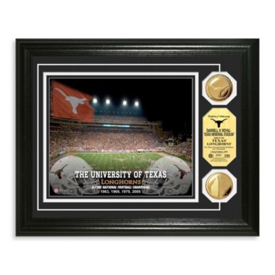 University of Texas 13-Inch x 16-Inch Collegiate Stadium Gold Coin Photo Mint Frame