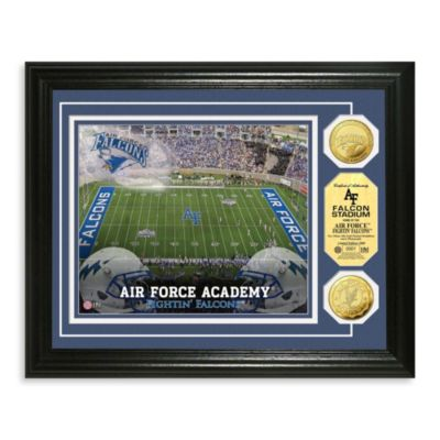 Air Force Collegiate Home Field Gold Coin Photo Mint Frame