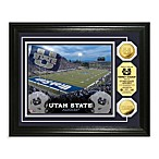 Utah State University 13-Inch x 16-Inch Stadium Gold Coin Photo Mint Frame
