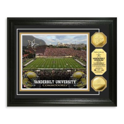 Vanderbilt University 13-Inch by 16-Inch Stadium Gold Coin Photo Mint Frame