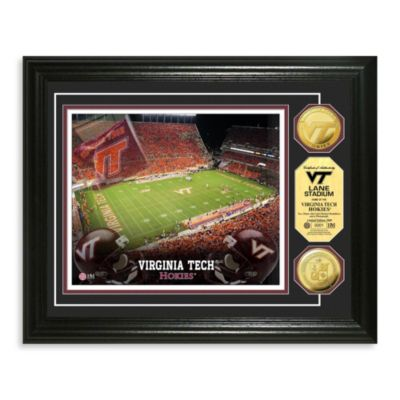 Virginia Tech 13-Inch x 16-Inch Collegiate Stadium Gold Coin Photo Mint Frame