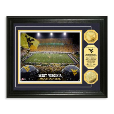University of West Virginia 13-Inch x 16-Inch Stadium Gold Coin Photo Mint Frame