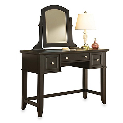 Buy Home Styles Bedford Collection Vanity Table With Removable Mirror In Blac