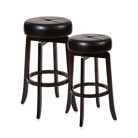 Ampersand® Rhodes Backless Swivel Barstool and Counter Stool in Dark Espresso