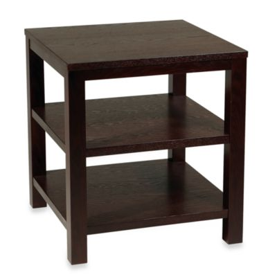 Avenue Six Merge 20-Inch Square End Table in Espresso