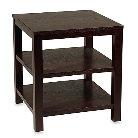 Avenue six merge 20 inch square end table in espresso for Table 6 to 20