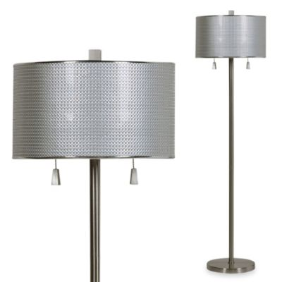 Brushed Steel Circles Floor Lamp