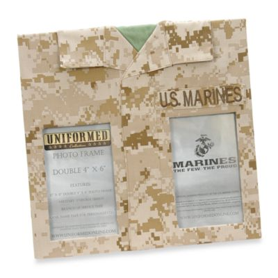 U.S. Marines 4-Inch x 6-Inch Double Frame