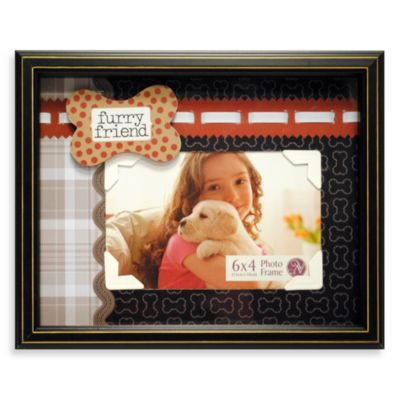 Furry Friend Dog Scrapbook Shadowbox Pet Frame