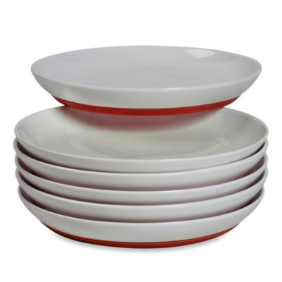 Tabletops Unlimited ™ Neo Eco Red 8-Inch Salad Plate (Set of 6)