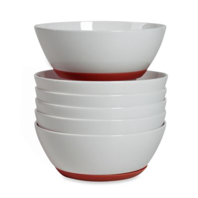 Tabletops Unlimited ™ Neo Eco Red 6-Inch Cereal Bowls (Set of 6)