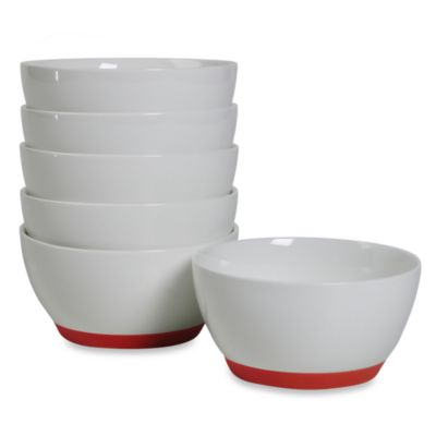Tabletops Unlimited ™ Neo Eco Red 4-Inch Fruit Bowls (Set of 6)