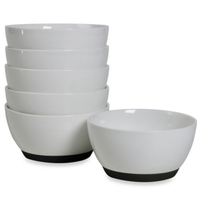 Tabletops Unlimited™ Neo Eco Black 4-Inch Fruit Bowls (Set of 6)