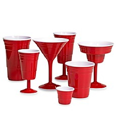 Red Reusable Plastic Drinkware