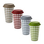 Classic Coffee & Tea 11-Ounce Houndstooth Mugs in Colors