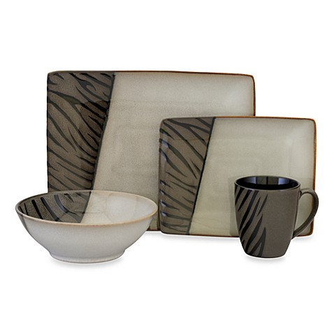 Sango® Safari Black 16-Piece Dinnerware Set
