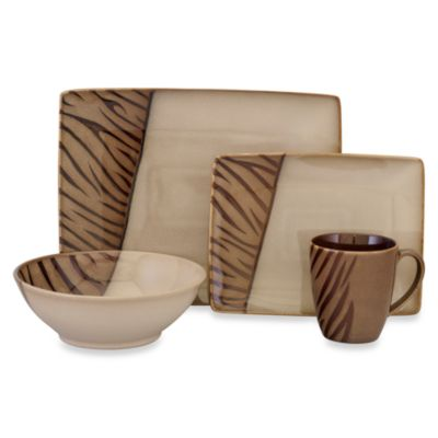 Sango® Safari Brown 16-Piece Dinnerware Set