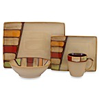 Sango Elements Brown 16-Piece Dinnerware Set
