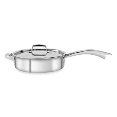 Zwilling J.A. Henckels TruClad 5-Quart Covered Saute Pan with Helper Handle