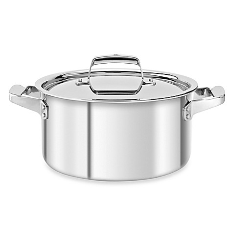 Zwilling J.A. Henckels TruClad 6-Quart Covered Stockpot