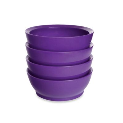 Calibowl 20-Ounce Bowls in Green (Set of 4)