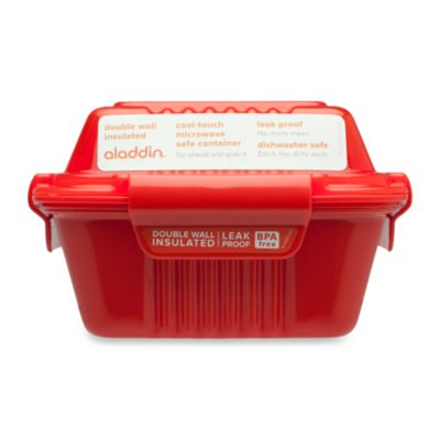 Aladdin® 12 Oz. Food To-Go Container in Red