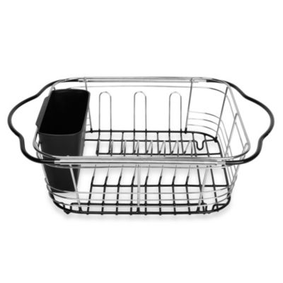 Black Chrome Dish Rack