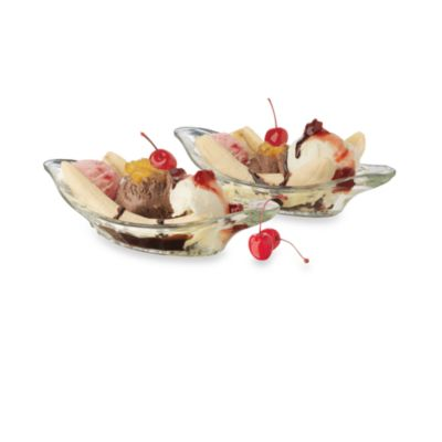 Libbey® Fountain Shoppe™ Banana Split 6-Piece Serving Set