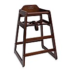 Lipper International High Chair in Walnut