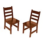 Lipper International Child's Chairs in Cherry (Set of 2)