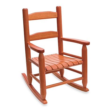 Lipper International Child's Rocking Chair in Cherry
