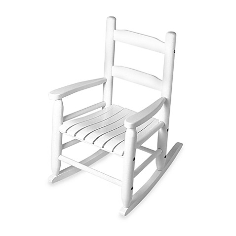Lipper International Child's Rocking Chair in White