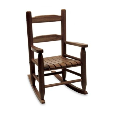 Lipper International Child's Rocking Chair in Walnut