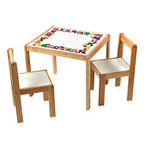 Lipper International ABC Table & 2 Chairs Set