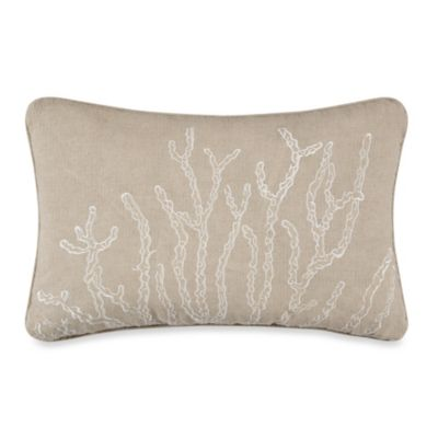 Solid Seashell Yellow Oblong Toss Pillow